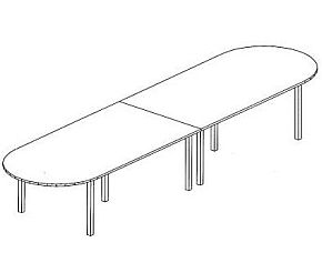 B50 Boardroom Table 4800 x 1200