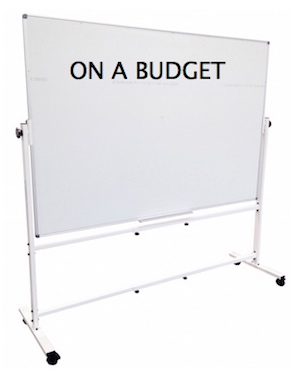 Cheap Mobile Whiteboard 12x12
