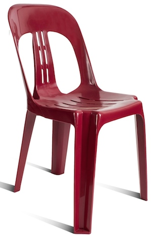 Barrel PVC Chair Burgundy
