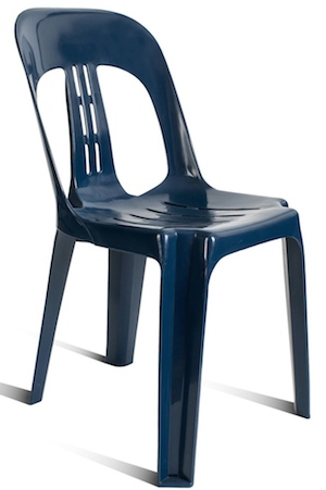 Barrel PVC Chair Navy