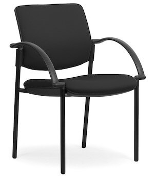 Eura Black Chair + Arms