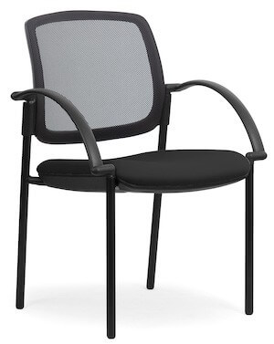 Eura Black Mesh Chair + Arms