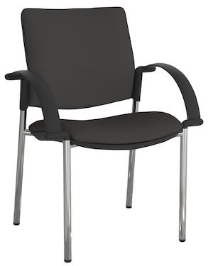 Eura Chrome Chair + Arms