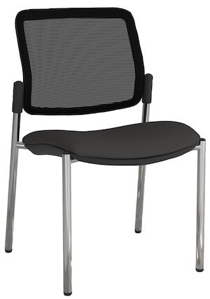 Eura Chrome Mesh Chair