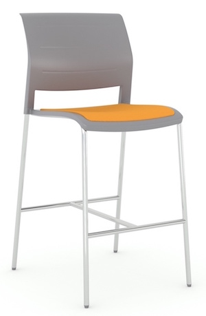 Event Upholstered Seat Barstool