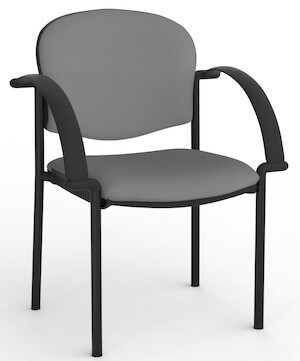 Jaz Black Chair + Arms