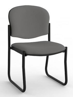 Jaz Black Skid Chair