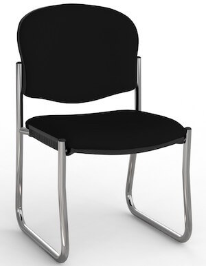 Jaz Chrome Skid Chair