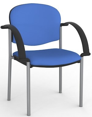 Jaz Silver Chair + Arms