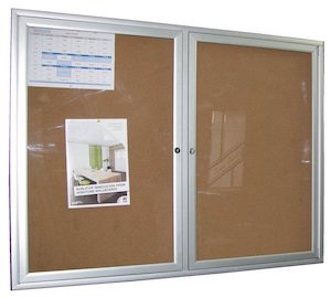 Lockable Noticeboard 12x12