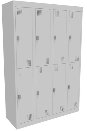 NZ 2 Door Bank of 4 Locker 300mm