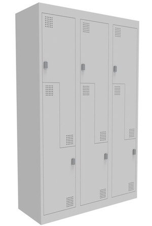 NZ 2 Step Bank of 3 Locker 375mm