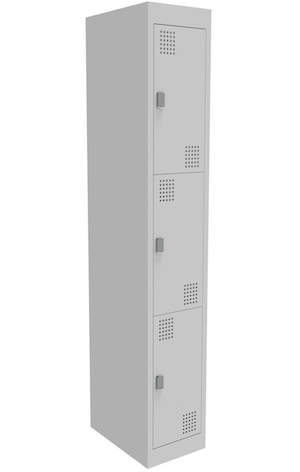 NZ 3 Door Bank of 1 Locker 300mm