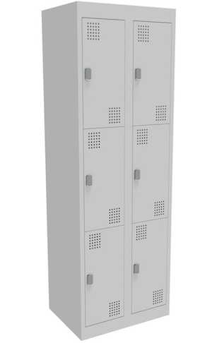 NZ 3 Door Bank of 2 Locker 300mm