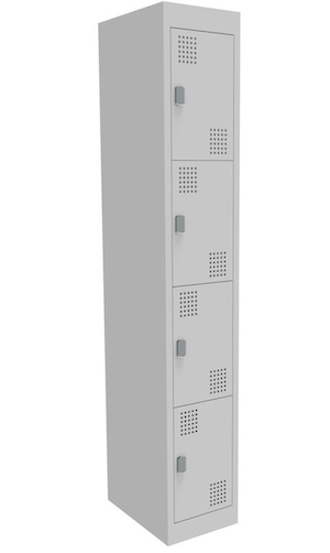 NZ 4 Door Bank of 1 Locker 375mm