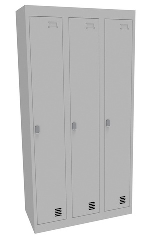 Alpha 1 Door Bank of 3 Locker