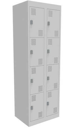 NZ 4 Door Bank of 2 Locker 375mm