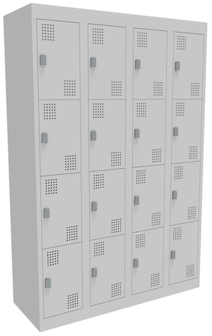 NZ 4 Door Bank of 4 Locker 300mm