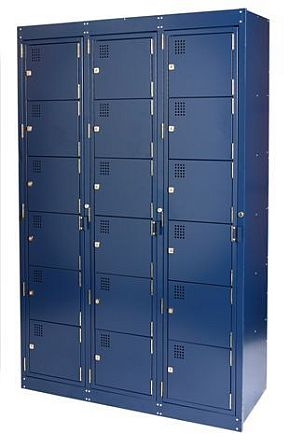 NZ 6 Door Bank Of 3 Folded Laundry Locker