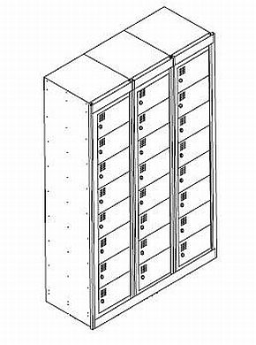 NZ 8 Door Bank Of 3 Folded Laundry Locker