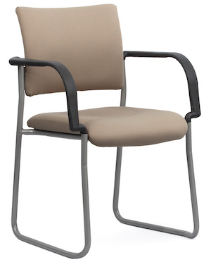 Q Silver Chair Skid + Arms