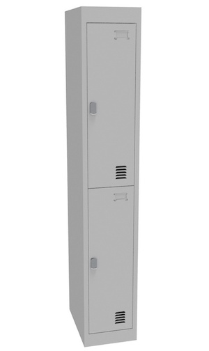 Alpha 2 Door Bank of 1 Locker 375