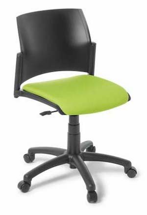 SP Black Swivel Chair Upholstered Seat