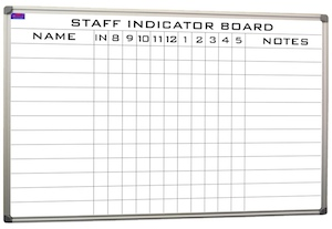 Staff Indicator Board 20 Names