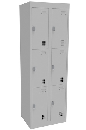 Alpha 3 Door Bank of 2 Locker 375