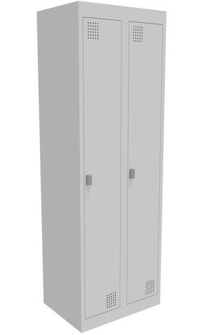 NZ 1 Door Bank of 2 Locker 375mm