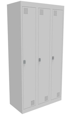 NZ 1 Door Bank of 3 Locker 375mm
