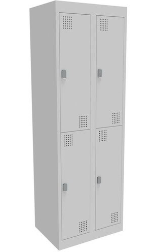 NZ 2 Door Bank of 2 Locker 375mm
